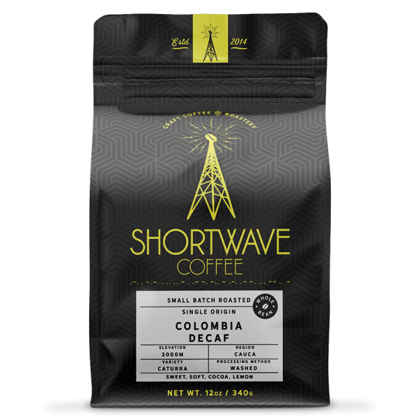 Shortwave Coffee Colombia Select Decaf 12oz Bag