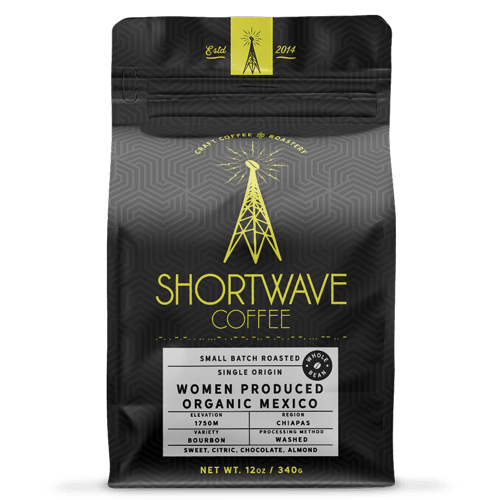 Shortwave Coffee Organic Mexico Chiapas Women Produced 12oz Bag