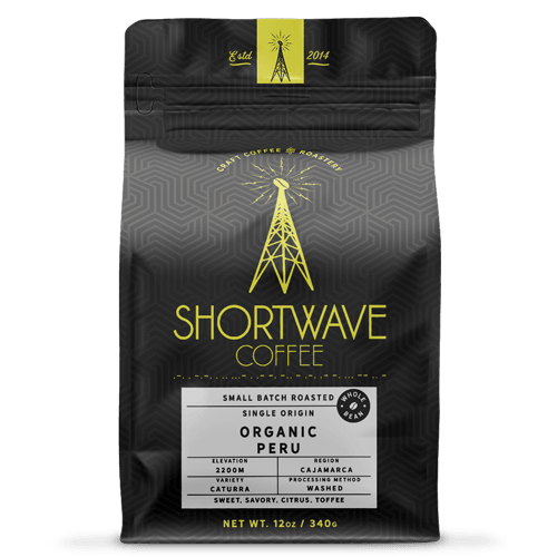 Shortwave Coffee Organic Peru Cajamarca 12oz Bag